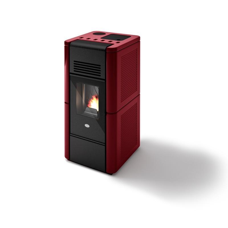 Poêle à granule ventilé céramique - EVACALOR Greta 9 kW