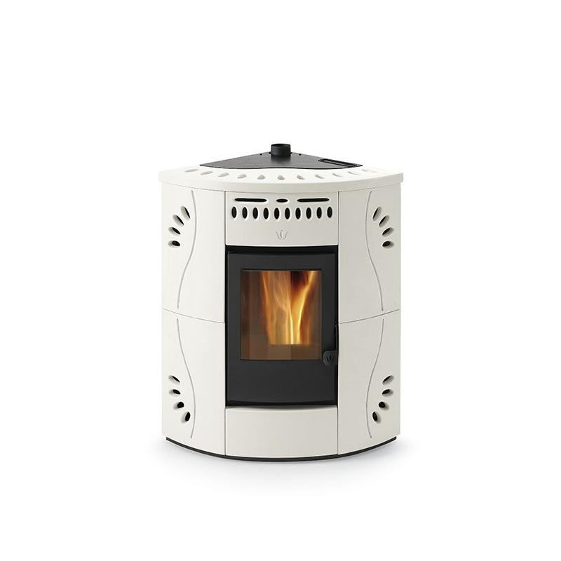 Poêle à granulés ventilé d'angle céramique - ORIGINE PH Gaia 14 kW