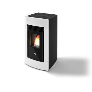 Poêle à granules ventilé céramique - EVACALOR Sofia 9.5 kw