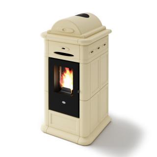 Poêle à granulés ventilé céramique - EVACALOR Adele 9 Kw