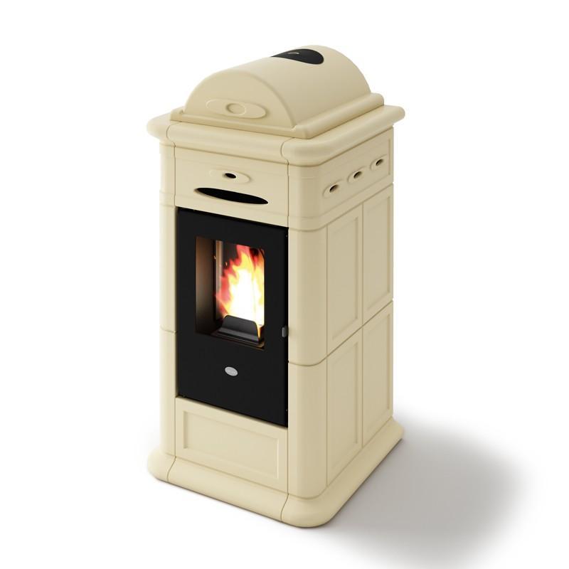 Poêle à granulés ventilé céramique - EVACALOR Adele 9.5 Kw