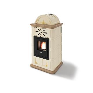 Poêle à granules ventilé céramique - EVACALOR Diana 13.5 kw