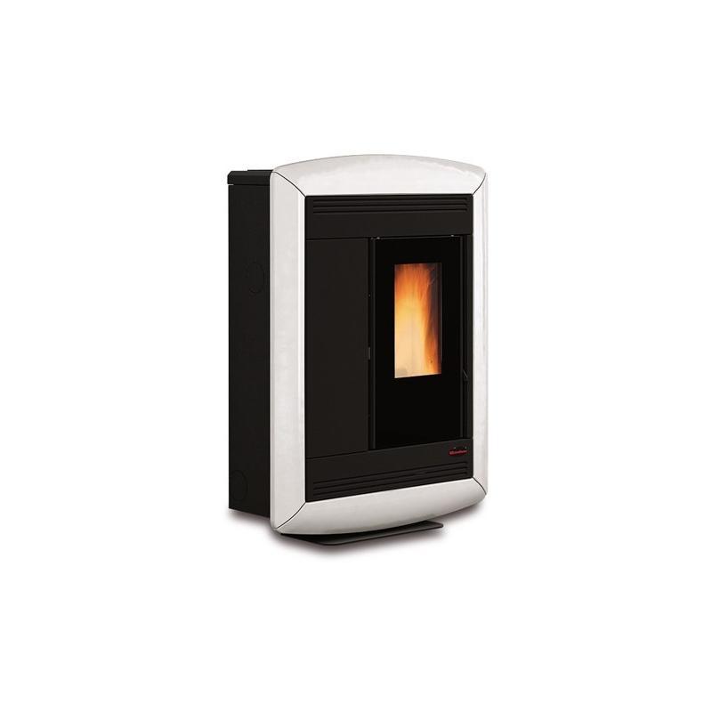 Poêle à granules ventilé extra plat céramique canalisable - EXTRAFLAME Souvenir Lux 10 kw