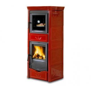 Poêle à bois revêtement en faïence et compartiment four - NORDICA Nicoletta Forno Evo 10,6 kW