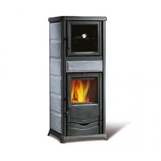 Poêle à bois revêtement en pierre naturelle avec four - NORDICA Rossella Plus Forno Evo Pierre 10,6 kW