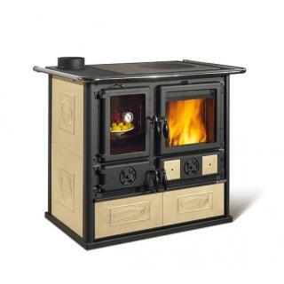 Cuisinière à bois revêtement faïence - NORDICA Rosa Sinistra Reverse 9,5 kW
