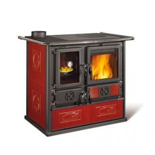 Cuisinière à bois revêtement faïence - NORDICA Rosa Sinistra Reverse 9,4 kW