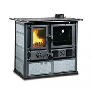 Cuisinière à bois revêtement pierre naturelle - NORDICA Rosa Pierre 8,2 kW