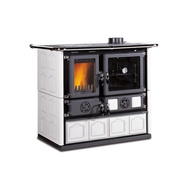 Cuisinière à bois en faïence - LA NORDICA Rosa 4.0 Maiolica 9.5 kW