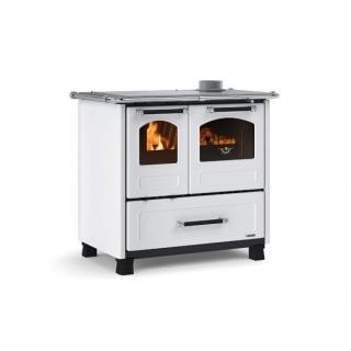 Cuisinière à bois revêtement en fonte émaillé - NORDICA Family 4.5 11,8 kW