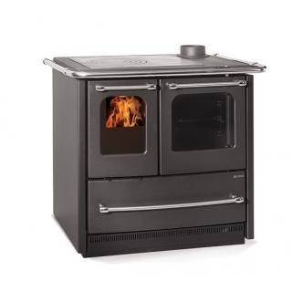Cuisinière à bois revêtement en fonte émaillé - NORDICA Sovrana Easy Evo 2.0 8.3 kw