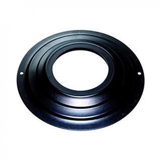 Rosace acier noir simple