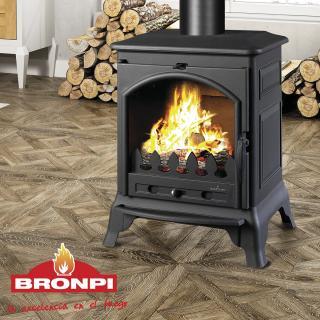 Poêle à bois et charbon en fonte - BRONPI Ordesa 10 kW