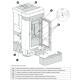 Poêle à granules ventilé céramique canalisable - EXTRAFLAME Lucia plus 12 kW