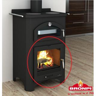 Porte complète pour cuisinière à bois BRONPI Monza