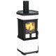 Poêle à bois céramique - LINCAR Monellina 176 AN PLUS 6.5 kW