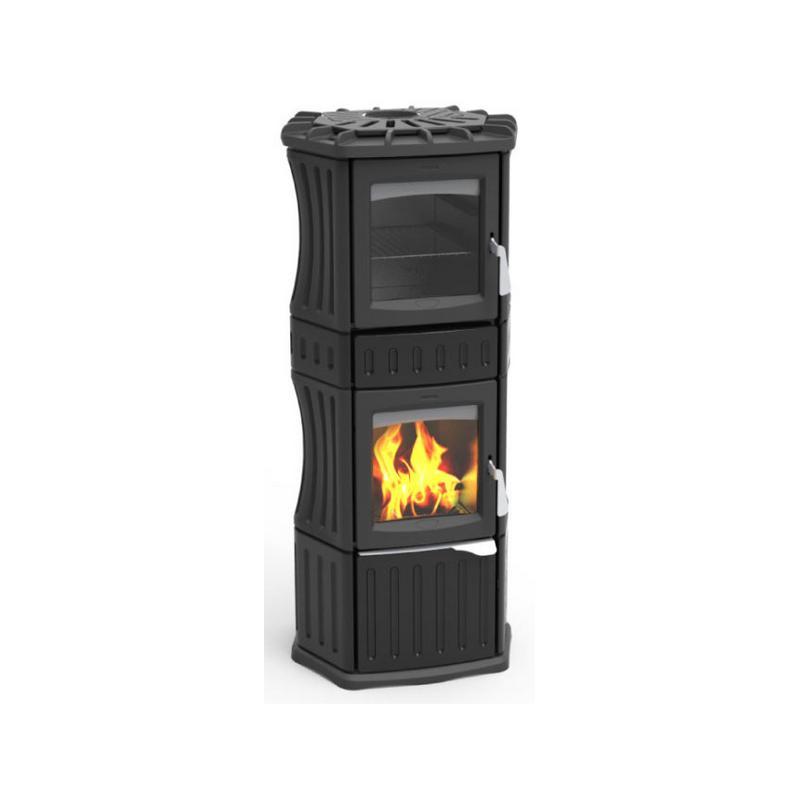 Poêle à bois céramique - LINCAR Monella 185N avec four 10.5 kW