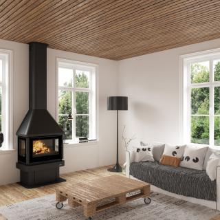 Poêle à bois cheminées - BRONPI Lisboa 3C 12 kW