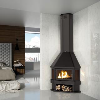Poêle à bois cheminées - BRONPI Lorca R 14 kW
